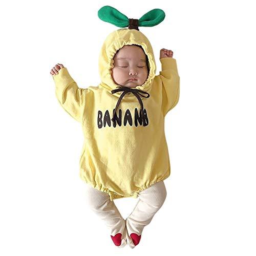 Weilov Infant Bébé Filles Garçons Feuille Épaisse Chaud À Capuche Barboteuse Vêtements Confortable Jumpsuit Chaud Grenouillère