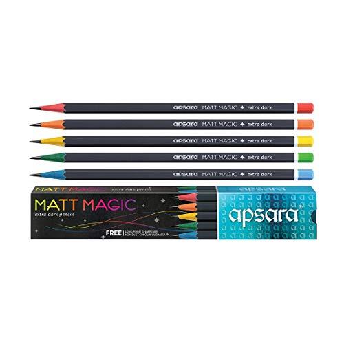 APSARA MATT Magic Extra Dark Pencil-Pack of 100