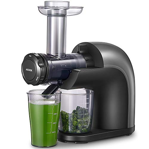 Juicer Machines, High Nutrition Cold Press Juicer, No Filter Design with Less Oxidation, Easy to Clean, Juice Recipes for Whole Vegetables and Fruits, Multiple Modes for Different Flavors