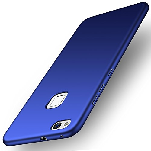 Funda Huawei P10 lite, ORNARTO HW P10 lite Carcasa [Ultra-Delgado] [Ligera] Mate Anti-arañazos y Antideslizante Alta Calidad Protectora Sedoso Caso para HUAWEI P10 lite(2017) AZUL