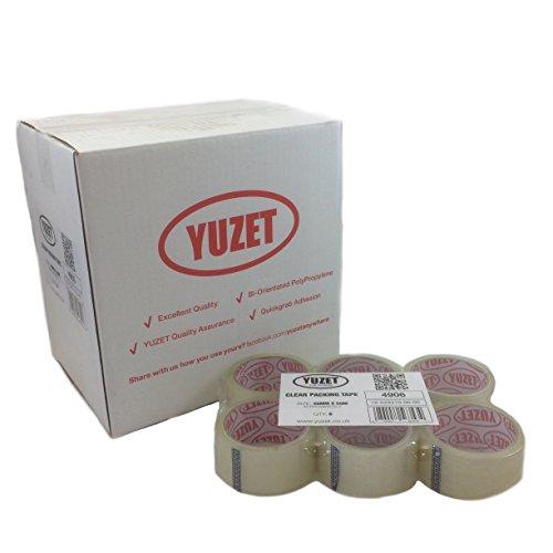 Yuzet, nastro adesivo da imballaggio, 48mm x 66m, trasparente 48mm x 66m Clear