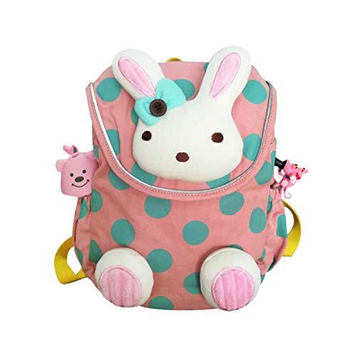 Kinder rucksäcke mit Anti-verloren Gürtel, Rosa Hasen Rucksack, Kinderrucksack für 2 bis 5-Jährige, Schulrucksack