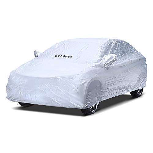 Amazon Brand - Solimo Volkswagen Polo Water Resistant Car Cover (Silver)