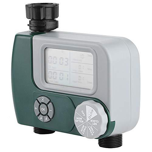 Omabeta Bewässerungsregler Gartenwerkzeug Bewässerungs-Timer Dual-Outlet Intelligent mit Filternetz-Design für Bewässerungsanlagen