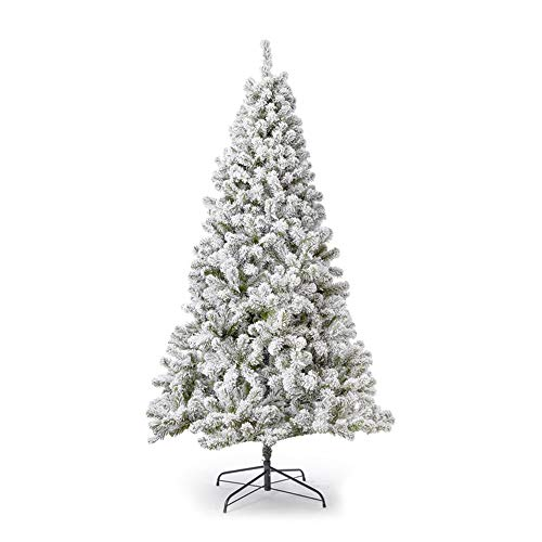 KING OF CHRISTMAS 7 Foot Prince Flock Artificial Christmas Unlit Flocked Snow