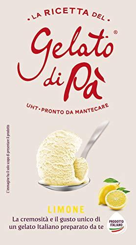 La Ricetta del Gelato di Pà: base gelato liquida UHT a lunga conservazione. Miscela per sorbetto al Limone VEGANO- 2 confezioni da 1130 grammi circa/cad