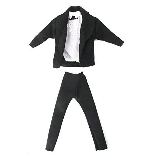 ZCSMg Puppenanzug, Kleider für Puppen (Mantel + T-Shirt + Hose)