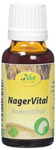 cdVet Natuurproducten knaagVital 20 ml - konijnen - cavia's - ondersteuning van de voedsel- en stofwisselingsprocessen positieve invloed op huid en haar - voedingssupplement -