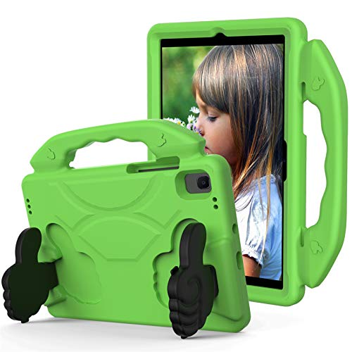 KATUMO Case for Samsung Galaxy Tab A7 10.4' 2020 Model (SM-T500/T505/T507) with Lightweight Handle,Shockproof EVA Built-in Folding Kickstand Kids Cover for Galaxy Tab A 10.4 inch ,Green