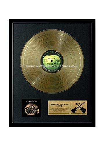 Rock Guitar Miniatures RGM1156Paul McCartney e Ali–Band on The Run Disco d' Oro 24K Placcato LP 12