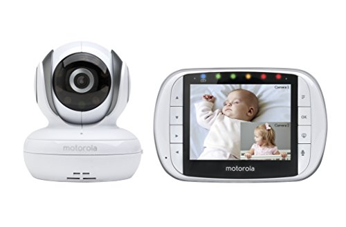 Motorola MBP36S Remote Wireless Video Baby Monitor with 3.5-Inch Color LCD Screen, Remote Camera Pan, Tilt, and Zoom
