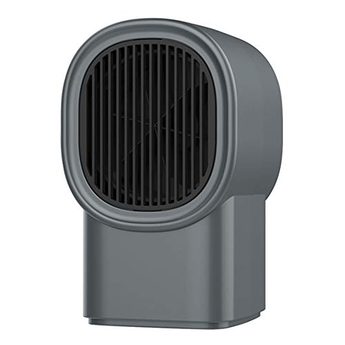 Fan heater energy saving small heater overheat protection for home, office, bathroom, baby Christmas best gift (Color : Dark gray)