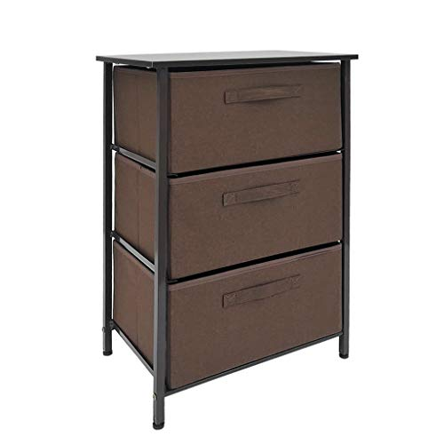 Lowest Price! Vertical Dresser Storage Tower with 3 Drawers - Fabric Storage Tower,Sturdy Steel Fram...