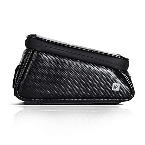 RBB-Bike Bag Bag Bâti De Vélo, Sac Imperméable De Bâti De Téléphone De Vélo, Écran Tactile Gevoelige Pare-Soleil Grande Capacité Skin Tube Bike Bag Fits Pour iPhone XS / 8 Plus, Galaxy Note.