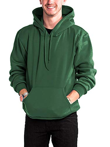 WESTSUMMIT Premium Made in USA Active Lifestyle Pullover Zipup Hoodie Sweatshirts Warm and Comfortable (H.Green hoodie, Small)