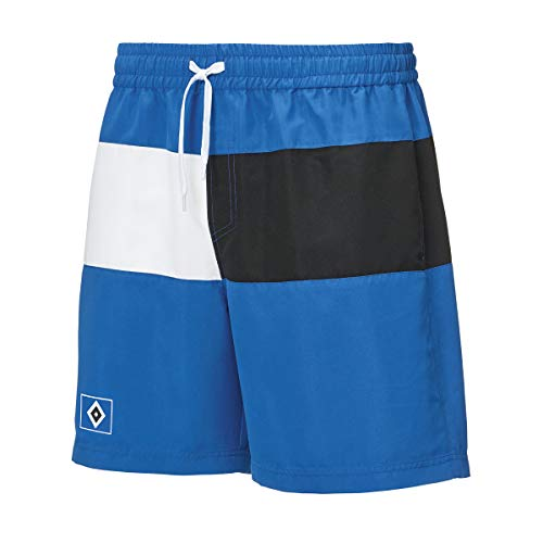 HSV Badeshorts Hamburger SV Sportverein + Sticker Hamburg Forever, Bade-Shorts Badehosen (140)