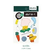 おかしいかわいい韓国日記ステッカープランナーDIYスクラップブッキングステッカーかわいい文房具子供のおもちゃステッカーアブラソコムツPapelaria