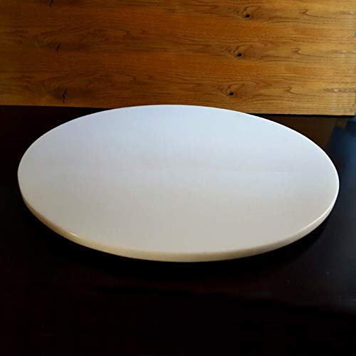 Large Marble Quartz Lazy Susan Turntable Rotating Serving Tray Dining Table Centerpiece 32 Inch Handmade