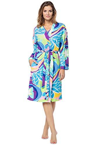 e.FEMME® Peignoir Lotta 430 en tissu éponge - Multicolore - 42