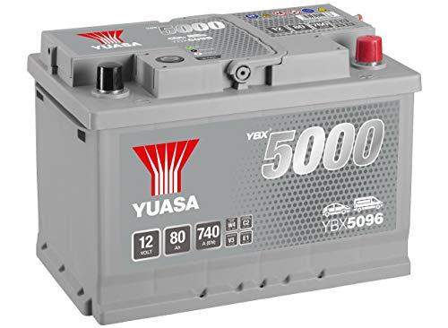 YUASA - BATTERIE YUASA YBX5096 SILVER 12V 80Ah 740A