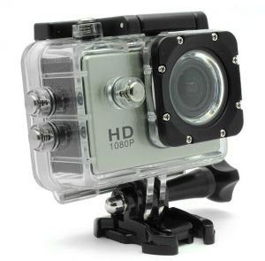 BEST SHOPPER Helmet Sports Action Waterproof Car Camera 12MP Full HD 1080P WiFi - Silver
