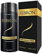 FEBRON Hair Fibers For Thinning Hair LIGHT COOL BROWN Giant 30G For Women & Men Hair Loss Concealer Hair Powder Volumizing Based 100% Undetectable & Natural - Bold Spots Filler