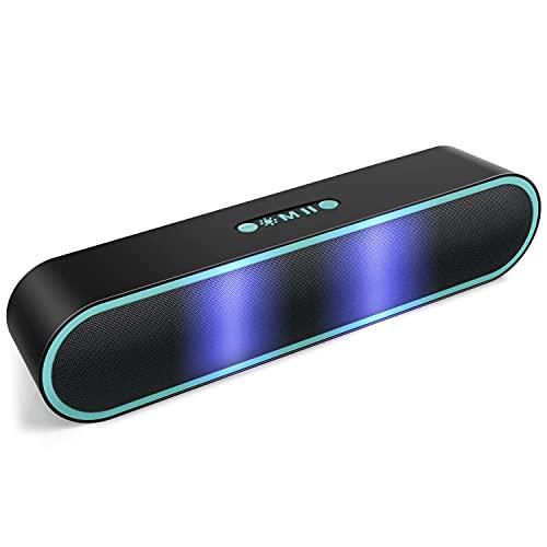 Altavoz Bluetooth Potente Portátil con luz LED 4+1 Altavoz inalámbrico Hi-Fi Estéreo Sonido Bluetooth 5.0 Construido en...