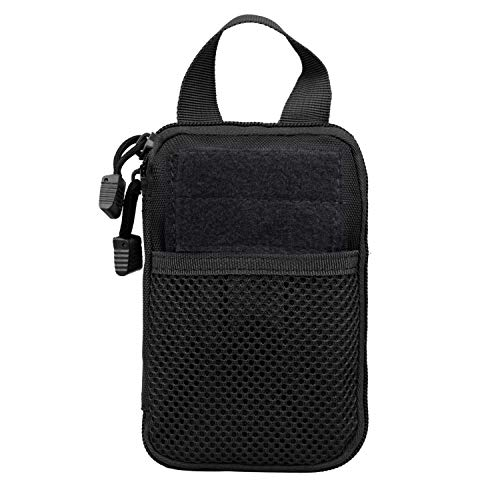 Molle Tactical Medical First Aid EDC Poche Organiseur Sac EMT W/boucle de ceinture, Noir , 4.75\