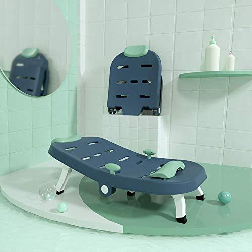 ZXL Badstoel, opvouwbaar en comfortabel voor kinderen, stabiele anti-slip shampoo-stoel, verstelbaar kussen en hoofdsteun, geschikt voor kinderen jonger dan 12 jaar, shampoo