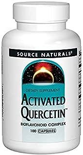Source Naturals Activated Quercetin - Plant-Derived Bioflavonoid Complex - Seasonal & Immune Defense - 100 Capsules