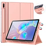 [Update Version] Ztotop Case for Samsung Galaxy Tab S6 10.5 Inch 2019, Strong Magnetic Ultra Slim Tri-Fold Smart Case Cover with Auto Sleep/Wake for SM-T860/T865 Samsung Galaxy Tab S6 10.5 - Rose Gold