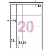 東洋印刷 シンプルパックシートカットラベル A4版 20面付(1ケース500シート) CD20SA
