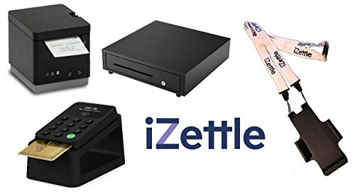 iZettle Complete Retail Bundel - Inclusief Kaartlezer 2, Dock, Cash Drawer, 2 Inch Printer & Neck Lanyard Zwart