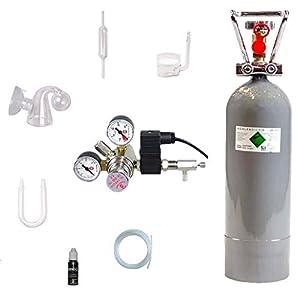 Hiwi-CO2-Anlage-2000-Profi-Magnetvetil-Nachtabschaltung-Glaskomponenten-Druckminderer-Made-in-Germany-2-KG-CO2-Mehrwegflasche-gefllt-NEU
