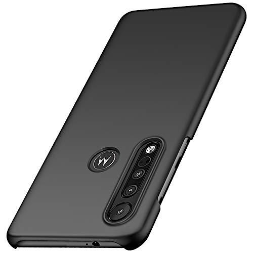 anccer Kompatibel mit Motorola Moto One Macro Hülle [Serie Matte] Elastische Schockabsorption & Ultra Thin Design für Moto One Macro (Glattes Schwarzes)