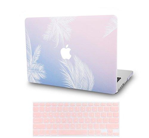 KECC MacBook Pro Retina 13 Inch Case (2015) w/ UK Keyboard Cover Plastic Hard Shell A1502 / A1425 (Blue Feather)