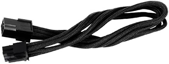 Silverstone Tek Sleeved Extension Power Supply Cable with 1 x 6-Pin to PCI-E 6-Pin Connector (PP07-IDE6B)