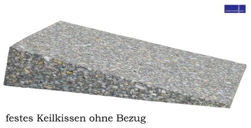 Orthopädisches Keilkissen als Sitzkeil 33 x 40 x 7 cm aus festem Verbundschaumstoff ohne Bezug