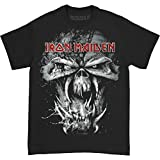 Iron Maiden Final Frontier Eddie Vintage Camiseta Manga Corta, Negro, Medium para Hombre