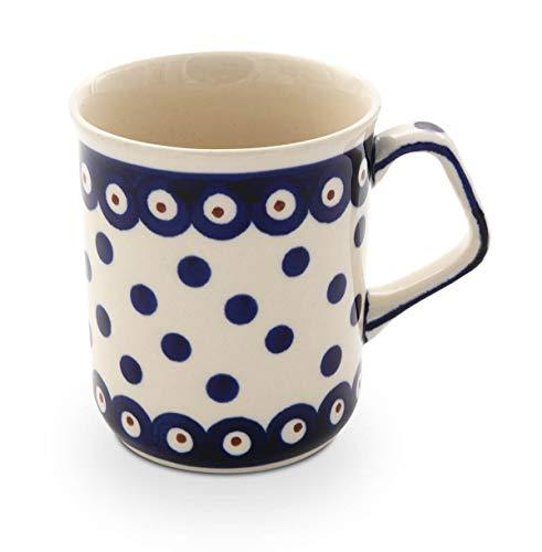 Original Bunzlauer Keramik Kaffeebecher mit eckigem Henkel 0.25 Liter im Dekor 46