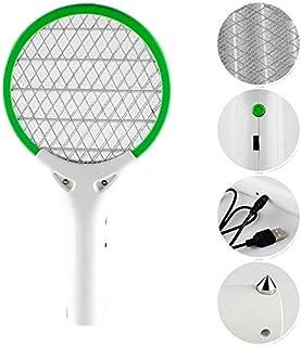 Chlry Pequeña Raqueta electrico Mata Mosquitos Matamoscas, para Auto, Recargable, Evitar el diseño de Choque eléctrico, Seguro, antimosquitos Bug Zapper