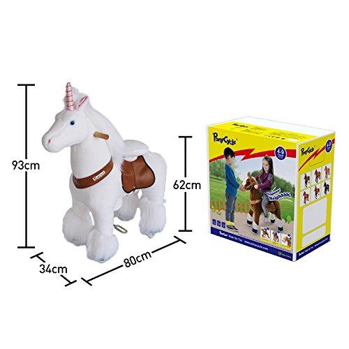PonyCycle N4042 - Juguete de peluche para niños de 4 a 9 años, diseño de unicornio