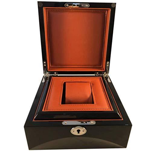 Caja de exhibición de Reloj de Madera Caja de Almacenamiento de Almacenamiento de Joyas Fuerte Cerradura de Seguridad para Hombres y Mujeres Reloj y joyero L20cmW20cmH10cm
