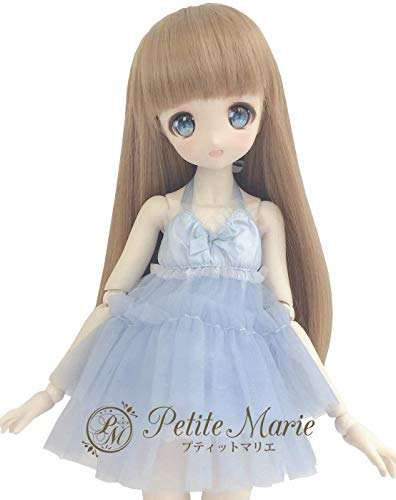 Petite Marie Japan for 1/4 Doll 16 inch 40cm MDD (Mini Dollfie Dream) MSD BJD Cute and Fluffy Tulle Dress (Blue) [No.0071] Clothes Only not Include Doll