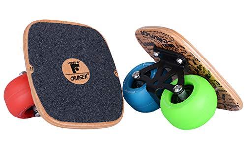 YQ&TL-Freeline Drift Skates Freeline Tragbares Board Erwachsene Split Skateboard Fashing Anfänger Runaway Freeline Kreuzfahrtschiff Reise Vierrad, EVO Rad Vier Farbe
