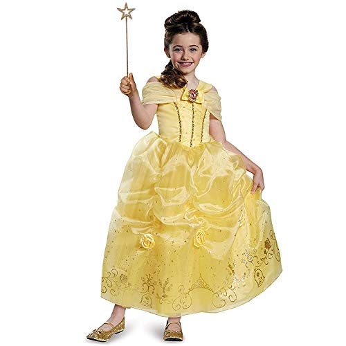 Xwenx Vestido de la Princesa de la niña, Princesa Disfraz de Vestir para niños, Mejores niños Regalos Disfraces de Cosplay para Halloween, niños Juego de rol Dress Up Set para niñas,S