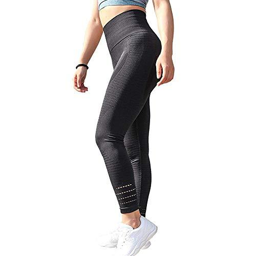 Leggings Legging De Fitness Hueco Leggings De Fitness Transpirables para Mujer Pantalones De Cintura Alta De Spandex Punk Sporting Stripe Si