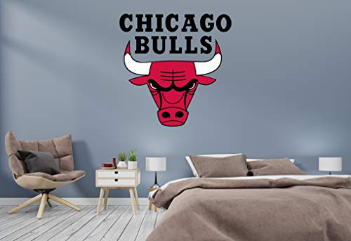 Basketball Team - NBA Team Logo Wall Decal Vinyl Sticker for Home Interior Decoration Doors Laptop, Window, Mirror, Car (30