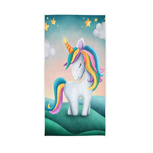BKEOY Toalla de baño con diseño de unicornio