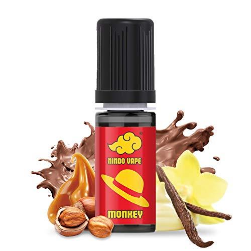 NINDO Aroma Cremoso Concentrato MONKEY 10ml | Dolce Caramello con Nocciola e Vaniglia! | 100% Made in Italy(Confezione Singola)